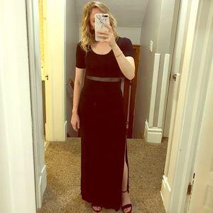 LuLu's Detail Oriented black maxi dress